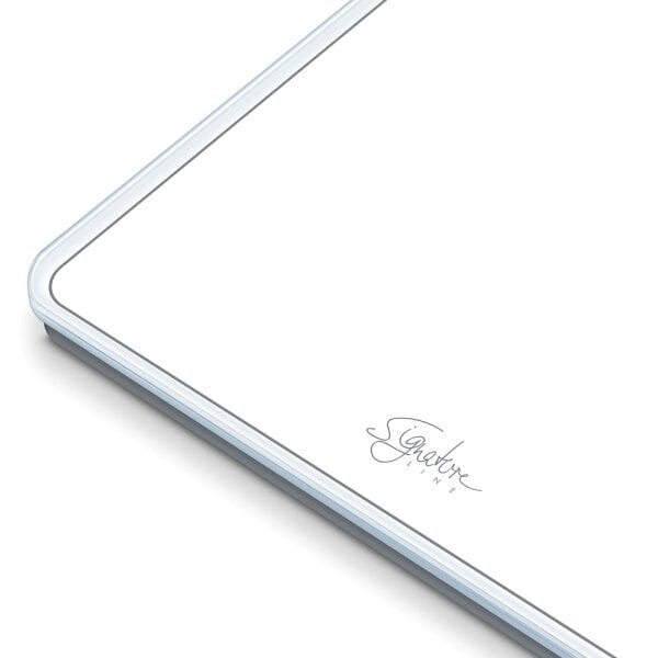 Bilancia in vetro GS 400 SignatureLine White Design elegante con display XL illuminato